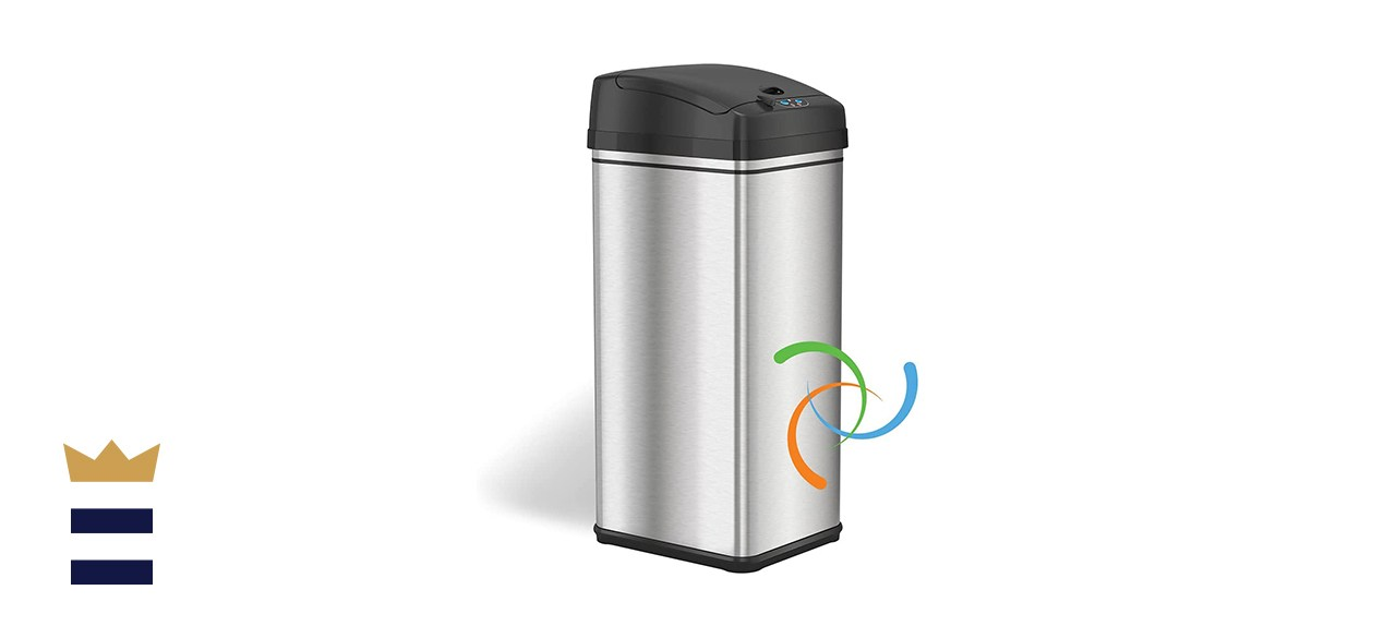 iTouchless 13-Gallon Automatic Trash Can
