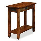 Leick Furniture Rustic Oak Chairside End Table