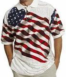 American Summer Allover Patriotic Men's Polo Shirt