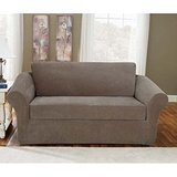 Sure Fit Stretch Pique 3-Piece Loveseat Slipcover