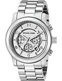 Michael Kors Oversized Silver-Tone Chronograph Watch