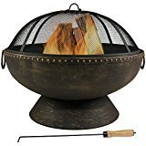 "Sunnydaze 30"" Fire Bowl Large Outdoor Fire Pit"