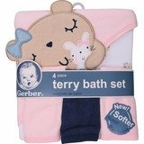 Gerber Newborn Towel and Washcloth Set