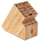 Cook N Home Bamboo Knife Storage Block