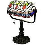 Warehouse of Tiffany Tiffany-Style Art Glass Desk Lamp