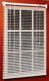 "Magne 40-Inch Vinyl Mini Blind with 1"" Slats and 25"" Width, 40"" Drop"