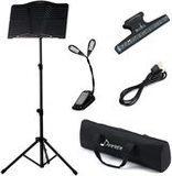 Donner DMS-1 Folding Travel Metal Music Stand With Carrying Bag