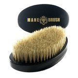 The Mane Brush Curved 360 Wave Brush – Men's Curved Military Hair and Beard Brush