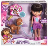 Fisher-Price Train and Play Dora and Perrito