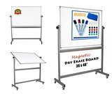 Dapper Display 36 x 48 Inch Magnetic Mobile Whiteboard