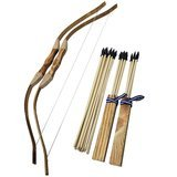 Adventure Awaits! 2-Pack Handmade Wooden Bow and Arrow Set