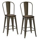 DHP Luxor Metal Stool