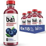 Bai Flavored Water Antioxidant Infused Drinks, 18-Ounce Bottles, Pack of 6
