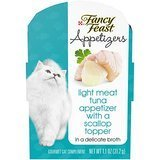 Purina Fancy Feast Fancy Feast Appetizers – Light Meat Tuna With a Scallop Topper