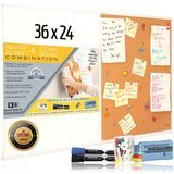 Besso Boards White Board and Cork Board Combination (36 Inch by 24 Inch)