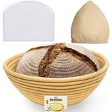 Bread Bosses 9-Inch Banneton Proofing Basket Set