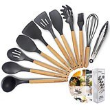Chef's Hand Silicone Cooking Utensils 11-Piece Set