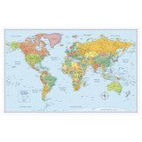 "Rand McNally 50"" x 32"" M-Series Full-Color World Map"