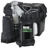 Wayne 1/2 HP Primary and Battery Backup Combination Sump Pump System