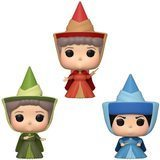 Funko POP Disney: Sleeping Beauty - Flora, Fauna, & Merryweather Fairy Godmother 3 Pack