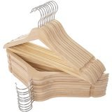 Elong Home Natural Slim Wood Suit Hangers