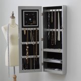 Belham Living Mirrored Wall Mounted Jewelry Armoire
