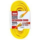 Iron Forge Cable Outdoor Lighted Extension Cord
