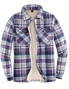 ThCreasa Sherpa Fleece-Lined Flannel Jacket
