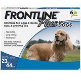Frontline Plus Flea and Tick Control for Dogs, 23 to 44 pounds, 6 Dose