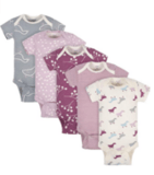 Grow by Gerber Baby Girls' Organic Short-Sleeve Onesies