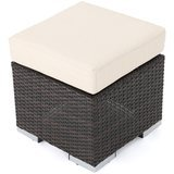Great Deal Furniture Wicker Ottoman Seat with Cushion