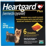 Heartgard Plus Chewable Tablets for Dogs, up to 25 Pounds