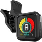 KLIQ Music Gear Clip-On Tuner for All Instruments - Chromatic Tuning Modes