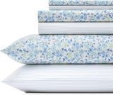 Laura Ashley Jaynie Ticking 200 Thread Count Sheet Set