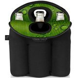 London Tailor Neoprene Bottle Tote Carrier Cooler - Holds a Six (6) Pack of Beer or Soda Bottles or Cans