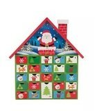 Glitzhome Product Wooden House Count Down Calendar