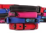 Max and Neo Dog Gear MAX Reflective Metal Buckle Dog Collar
