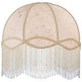 Meyda Tiffany Fabric & Fringe Dome Shade