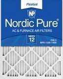 Nordic Pure MERV 12 Pleated AC Furnace Filter