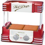 Nostalgia Retro Series Hot Dog Roller with Bun Warmer