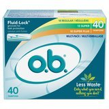 o.b. Applicator Free Digital Tampons Regular/Super/Super Plus Multipack