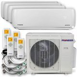 Pioneer Ductless Wall Mount Multi Split System Air Conditioner & Heat Pump- Quad 4-Zone Set