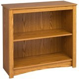 Prepac Oak 2-Shelf Bookcase