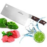 ProCookHouse 7-inch Stainless-Steel Professional Cleaver Knife