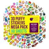 Purple Ladybug Novelty 3D Puffy Stickers Mega Pack, 80 Sheets