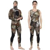 Realon Wetsuit 5mm Full Spearfishing Suit Camo Scuba Diving Suit