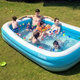 Sable Rectangular Family Inflatable Pool, 118 by 72 by 20 inches