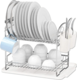 Simple Houseware Two-Tier Dish Rack
