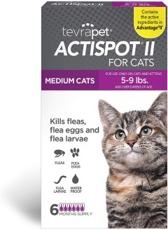 TevraPet Actispot II Flea Prevention for Cats