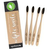 Tranquilo White Smile Biodegradable Toothbrush with Natural Bamboo Handle & Charcoal Bristles